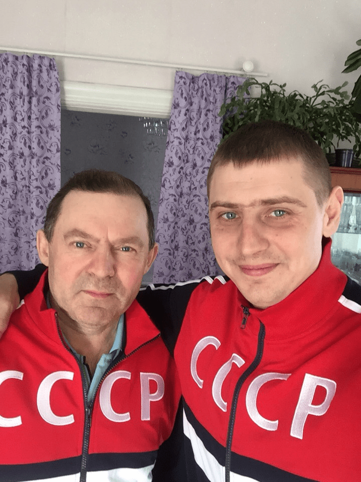 Артём Филимонов с отцом Русич Спорт